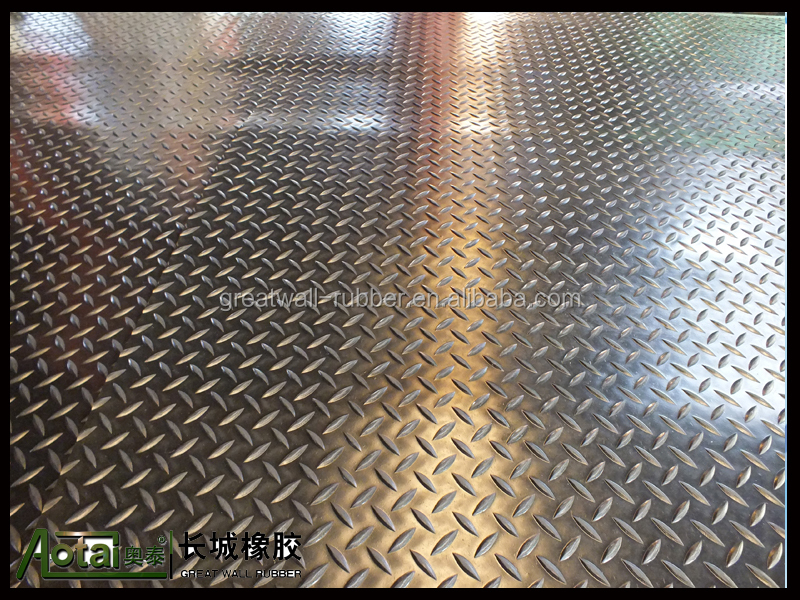 3mm-6mm diamond safety rubber flooring mat