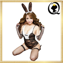 Sexy Girls Bunny Rabbit Cosplay Erotic Lace Lingerie Ladies Teddy Fancy Dress Up