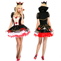 Ladies queen of heart Womans Party Adult Sexy New Girls Halloween Fancy Dress Costumes