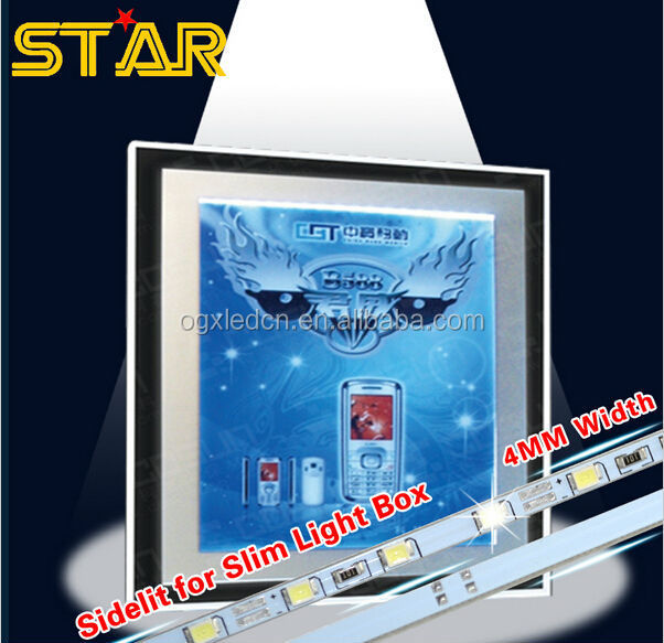 50cm 12V 0.1W SMD2835 Ultra Slim LED Bar Rigid Strip Light Sidelit Sidelight for Adversting Board Light Box LED Sign Menu