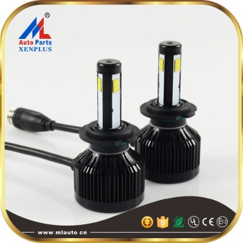 E3 3 sides super bright h7 40w auto car led headlight