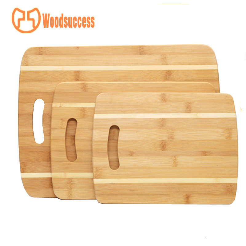 white edge splicing 3 piece bamboo cutting board set