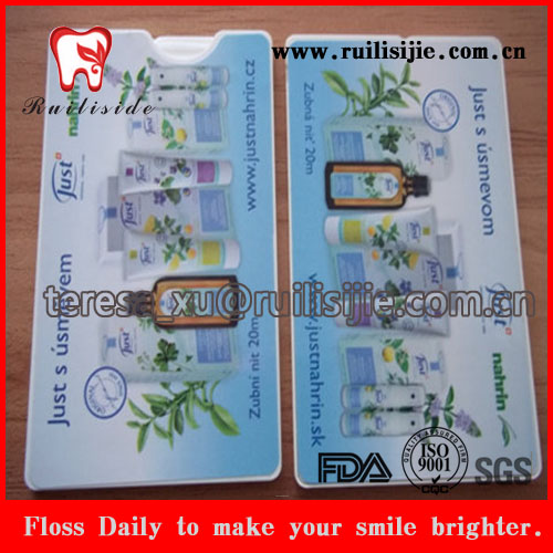 Export tooth cleaning tool dental floss/dental flosser cards shape with brand logo