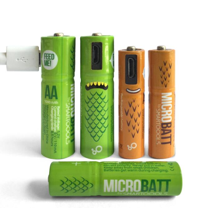 Micro USB Port Charging AA & AAA Rechargeable Battery 1.2V Ni-Mh Logo Customize USB Rechargeable AA Battery Cheap Cost Wholesale