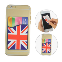 silicone smart card pocket with mobile phone cleaner