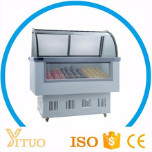 Yituo gelato freezer showcase/popsicle display freezer/hard ice cream deep freezer