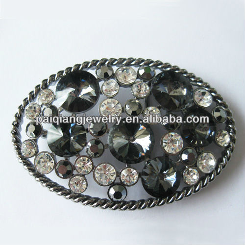 Wholesale fashion crystal decorative mexico solid brass belt buckle clasp