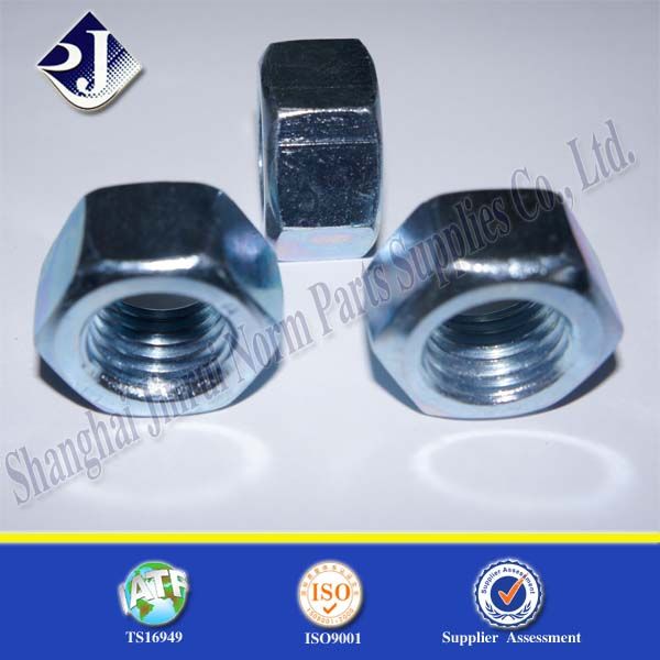 gr8 M12-1.75 BZP hex nut hexagon nut