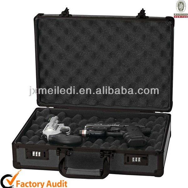 MLD-GC133 Newest Sturdy Aluminum Pistol Gun Case with Coded Locks and Sponge to Protect Guns