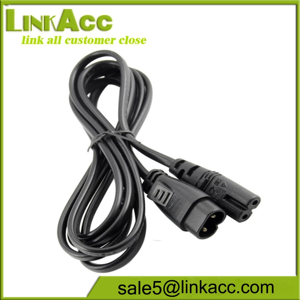 LKCL20 IEC320-C7 TO C8 two AC power supply extension line with eight power switching adapter