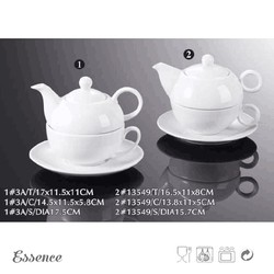 Latest design superior quality cheap white ceramic teapot