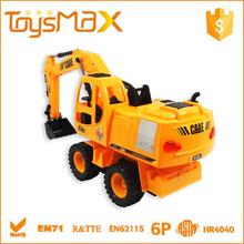 Best gift 1:24 5channel plastic kid toys rechargeable rc hydraulic excavator for sale