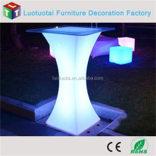 LED illuminated light bar cocktail table square bar table for night club
