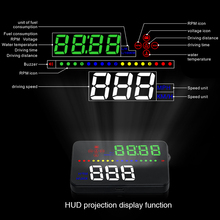 Car Electronics OEM 2017 New Product Universal Digital Speedometer For Car OBD2 HUD Heads Up Display Car Windshield Aftermarket