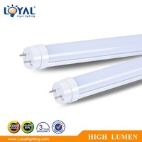 Plastic cover IP20 2700-6500K T8 1200MM SMD dlc listed 18w led tube