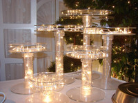Lighting acrylic wedding cake stand/ acrylic cake holder