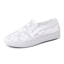 2017 new style casual female white sneakers women platform shoes