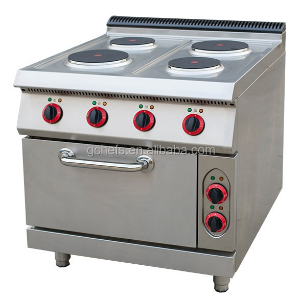 Electric 6-Hot Plates Range With Oven / Custom Made Cooking Range / Commercial Electric Stove