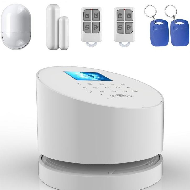 WIFI+PSTN+GSM 3 in 1 alarm system low battery prompt ios&android app touch control operation