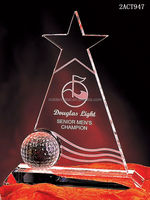 Top quality new design best selling sports Polaris star crystal golf award