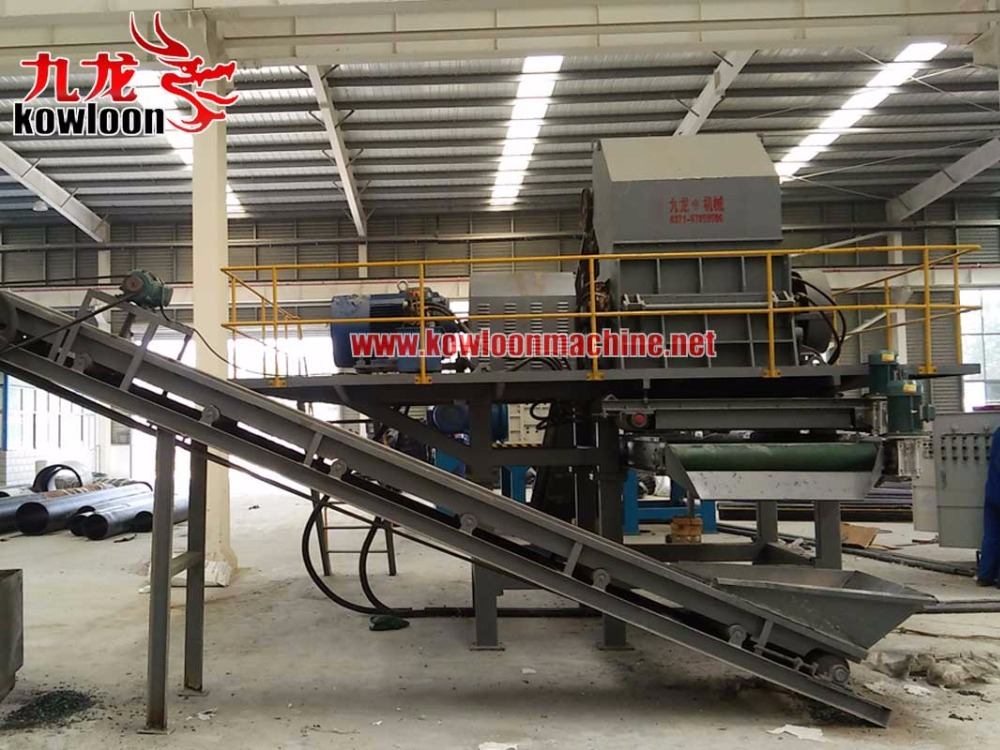 secondary shred equipment recycle steel mixed tyre machine