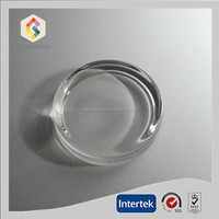clear glass flat round paper weight