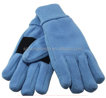 winter warmer two layer leather palm thinsulate lining polar fleece glove