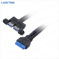 2 Port USB 3.0 A Female to 20 Pin Cable Internal USB Motherboard Connection