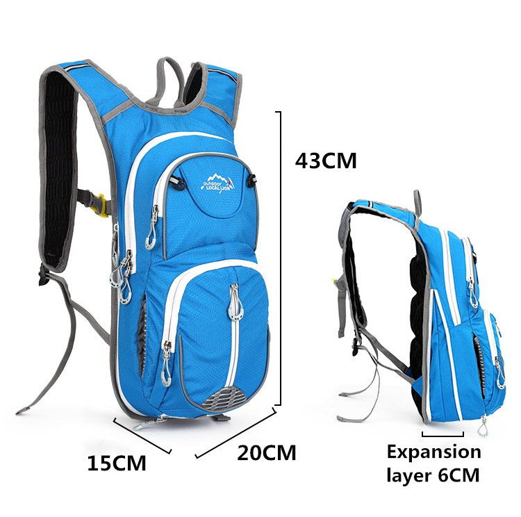 Custom Cycling Backpack Pack With Helmet Pocket, Wholesale Ultralight Running Bag