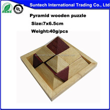 Pyramid wooden puzzles in box