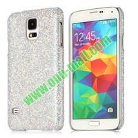 Hard Case with Glittering Powder Leather Coated Back Cover for Samsung Galaxy S5