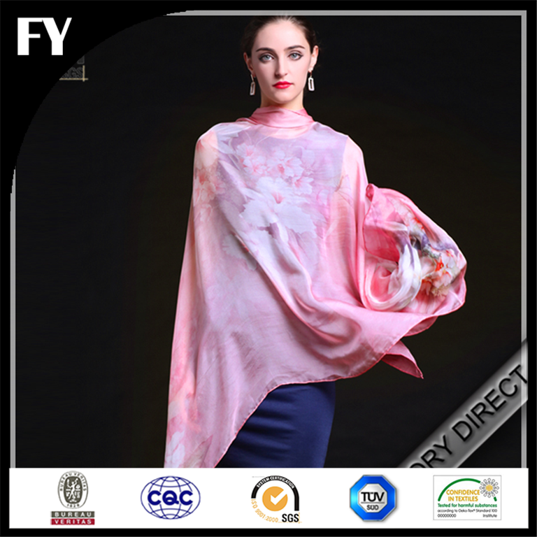 Hot sale high demanded factory custom white silk scarves for dying