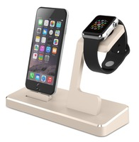Aluminum Metal Displaying Holder Stand Desktop Docking Station For Apple Watch For Iphone 6 / Plus Charging Cradle