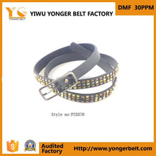 Studded belt yiwu factory hot sale rivet style belts customized leather belt for ladies