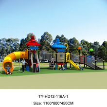 Plastic Kids Slides Play Structure For Disabled Child Outdoor Playsets For School