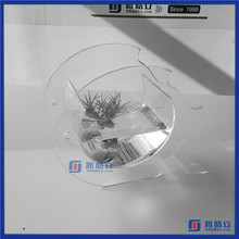 Manufacturing Customized Small Acrylic Fish Tank / Fish Shaped Acrylic Fish Bowl / Plexiglass Aquarium