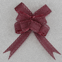 glitter pp ribbon butterfly pull bow for gift packing