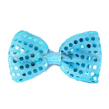 wholesale party supplies led flashing party glitter bow fashion tie