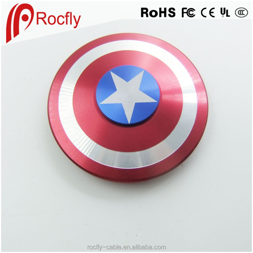 Anti-Anxiety 360 Spinner Fidget Toy Hand Spinner EDC Toy Fidget Top Captain America