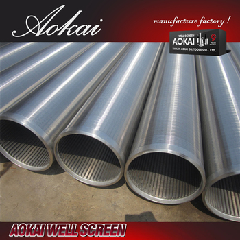 water well screen wire wrapped screens pipe SS202 for wholesales