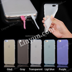 Low products Matte TPU Clear Transparent Phone case for iPhone 6Plus , for iphone 6+ back case