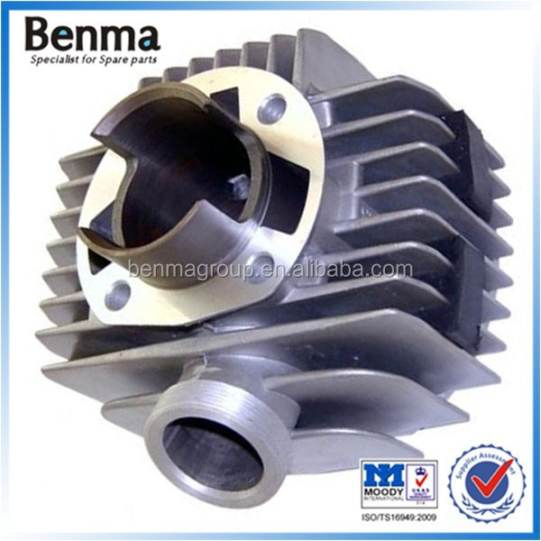 Standard size motorcycle 100cc cylinder block,A100 motorcycle cylinder bore 50mm