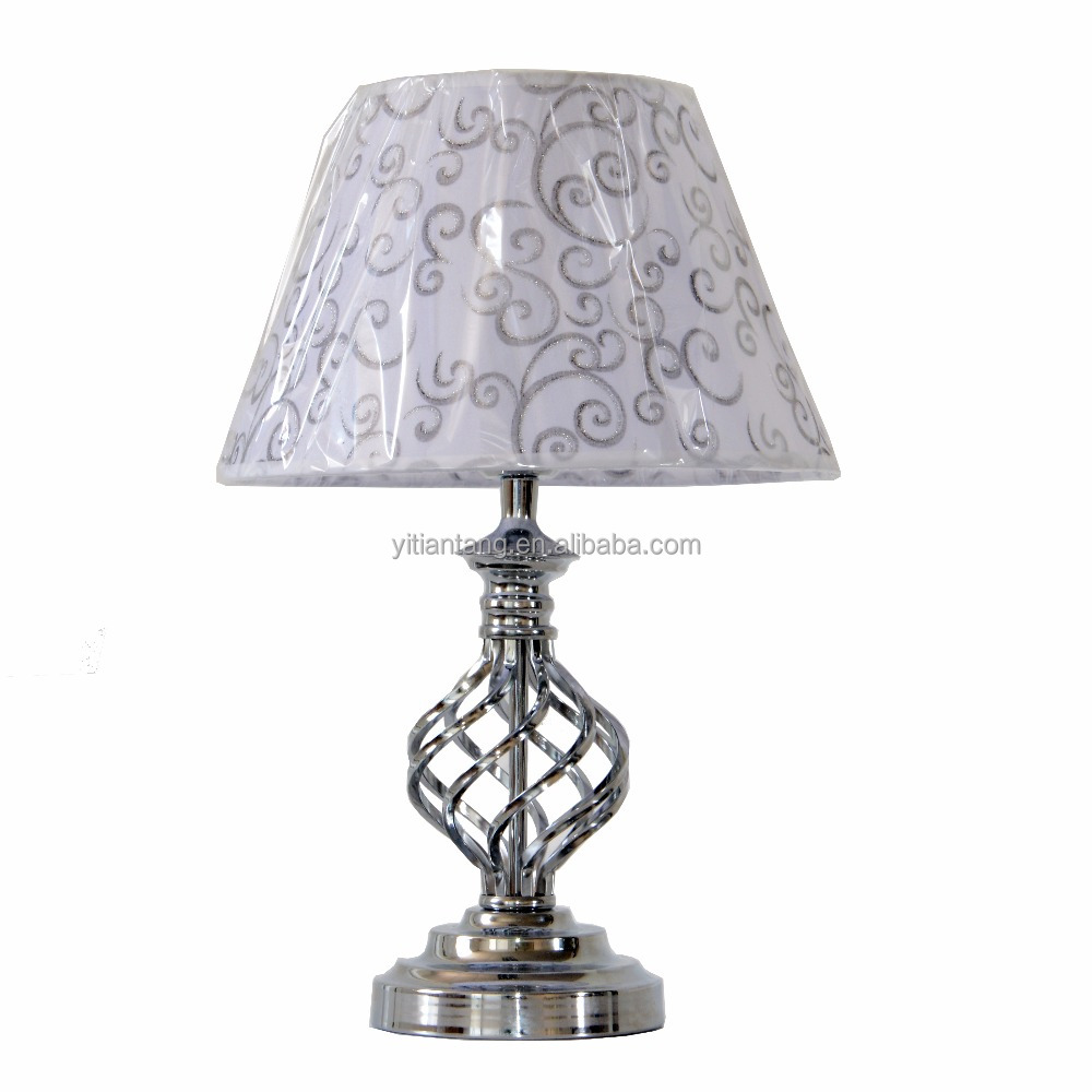 Traditional Victorian table <strong>lamp</strong> with fabric lampshade