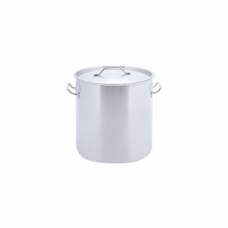 Hot sale hotel restaurant professional stainless steel cookingware tall body pot with durable bottom