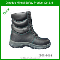 DDTX-B014 Best selling genuine leather industrial mining safety shoes military boots