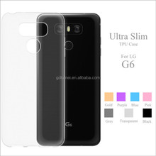 Wholesale High Quality Clear Transparent Tpu Back Phone Case For LG G6