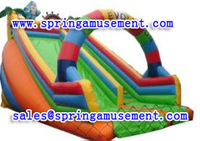Customized inflatable PVC type inflatable water slide for sale SP-SL055