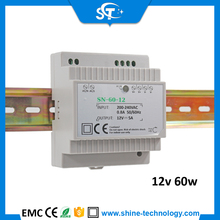 Hot sale!Din rail 60w 12v 24v led power supply with waterproof led switching driver for home automatic