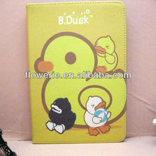 FL2835 2013 Guangzhou hot selling b duck flip leather case for ipad mini