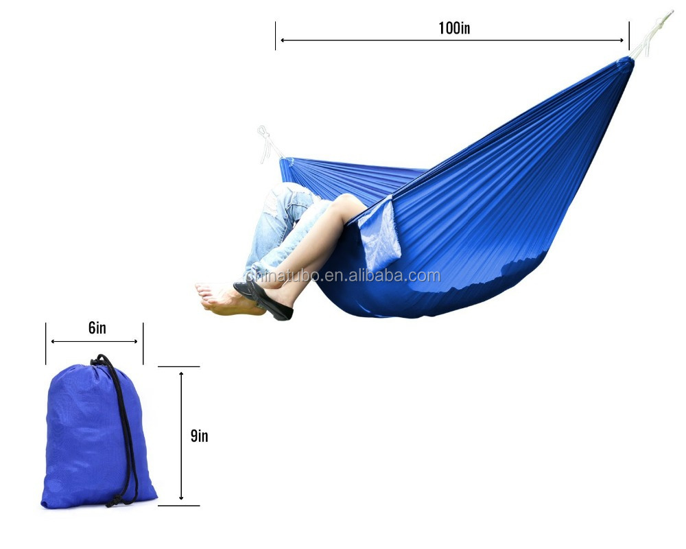 Double Parachute Camping Hammock,Ultralight Portable Nylon Parachute Hammock for Light Travel,Hiking, Backpacking